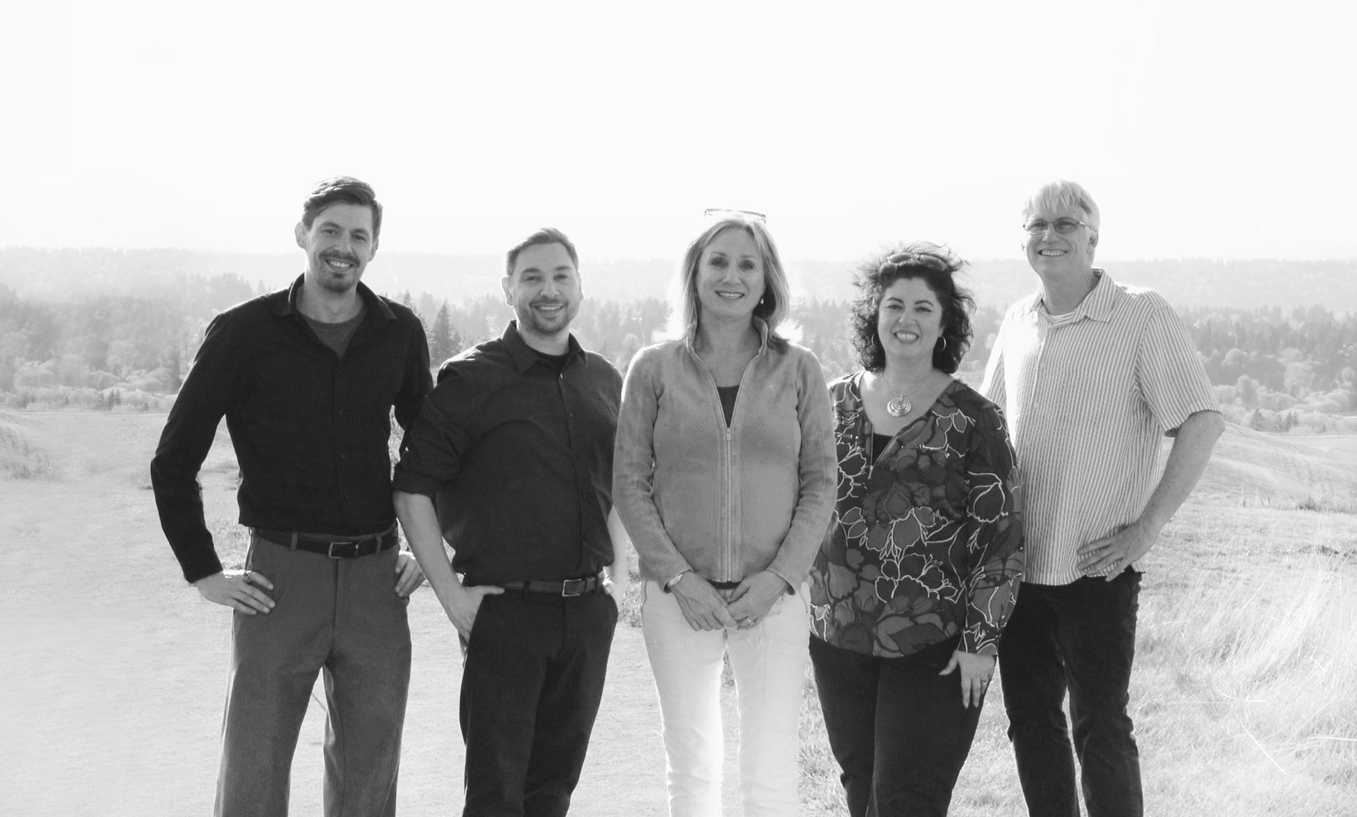 Meet the Flowerpot Media team - Flowerpot staff team picture with Kim Augustavo